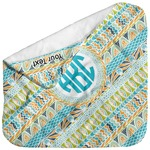 Abstract Teal Stripes Baby Hooded Towel (Personalized)