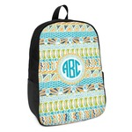 Abstract Teal Stripes Kids Backpack (Personalized)