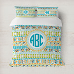 Abstract Teal Stripes Duvet Covers (Personalized)