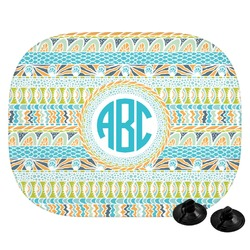 Abstract Teal Stripes Car Side Window Sun Shade (Personalized)