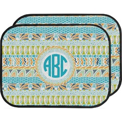 Abstract Teal Stripes Car Floor Mats (Back Seat) (Personalized)