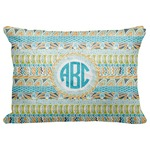 "Abstract Teal Stripes Decorative Baby Pillowcase - 16""x12"" (Personalized)"