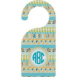 Abstract Teal Stripes Door Hanger (Personalized)