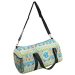 Abstract Teal Stripes Duffel Bag - Multiple Sizes (Personalized)