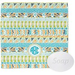 Abstract Teal Stripes Wash Cloth (Personalized)