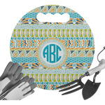 Abstract Teal Stripes Gardening Knee Cushion (Personalized)
