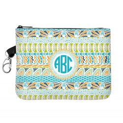 Abstract Teal Stripes Golf Accessories Bag (Personalized)
