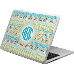 Abstract Teal Stripes Laptop Skin - Custom Sized (Personalized)