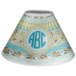 Abstract Teal Stripes Coolie Lamp Shade (Personalized)