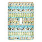 Abstract Teal Stripes Light Switch Covers - Multiple Toggle Options Available (Personalized)