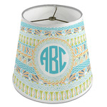 Abstract Teal Stripes Empire Lamp Shade (Personalized)