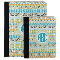 Abstract Teal Stripes Padfolio Clipboard (Personalized)
