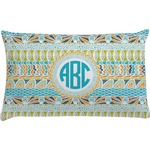 Abstract Teal Stripes Pillow Case (Personalized)