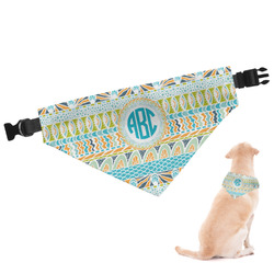 Abstract Teal Stripes Dog Bandana (Personalized)
