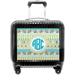 Abstract Teal Stripes Pilot / Flight Suitcase (Personalized)