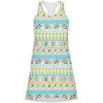 Abstract Teal Stripes Racerback Dress (Personalized)