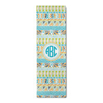 Abstract Teal Stripes Runner Rug - 3.66'x8' (Personalized)