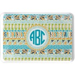 Abstract Teal Stripes Serving Tray (Personalized)