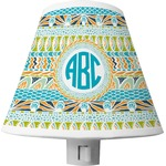 Abstract Teal Stripes Shade Night Light (Personalized)