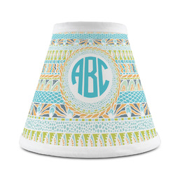 Abstract Teal Stripes Chandelier Lamp Shade (Personalized)