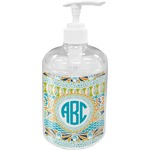 Abstract Teal Stripes Soap / Lotion Dispenser (Personalized)