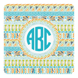 Abstract Teal Stripes Square Decal - Custom Size (Personalized)
