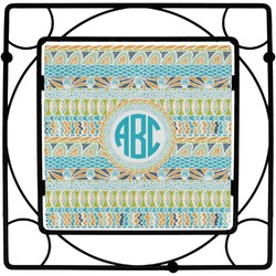 Abstract Teal Stripes Trivet (Personalized)