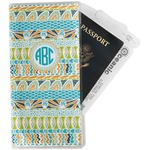 Abstract Teal Stripes Travel Document Holder