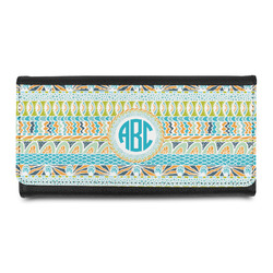 Abstract Teal Stripes Ladies Wallet (Personalized)