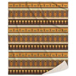 African Masks Sherpa Throw Blanket