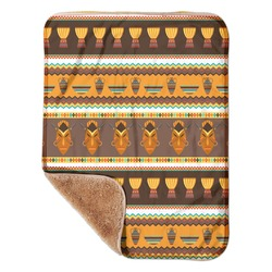 "African Masks Sherpa Baby Blanket 30"" x 40"""