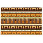 African Masks Woven Mat