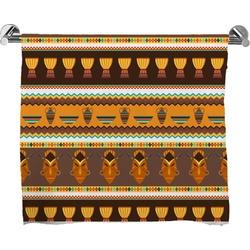 African Masks Full Print Bath Towel