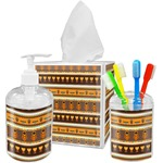 African Masks Acrylic Bathroom Accessories Set