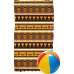 African Masks Beach Towel