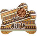 African Masks Bone Shaped Dog Food Mat