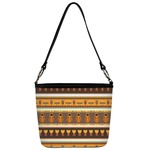 African Masks Bucket Bag w/ Genuine Leather Trim