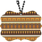 African Masks Rear View Mirror Charm