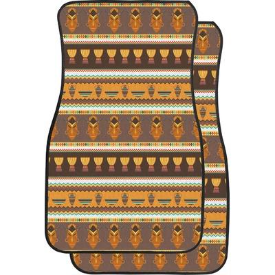 African Masks Car Floor Mats (Front Seat)