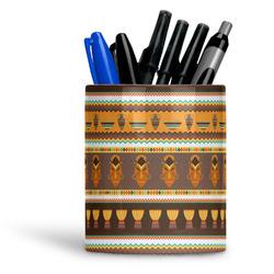 African Masks Ceramic Pen Holder