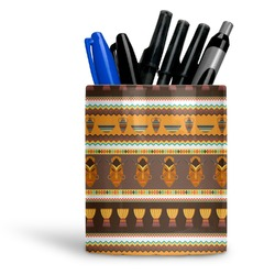 African Masks Ceramic Pen Holder