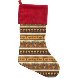 African Masks Christmas Stocking