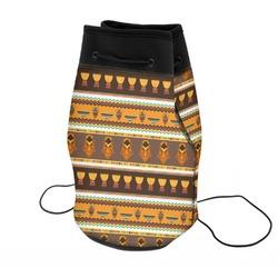 African Masks Neoprene Drawstring Backpack