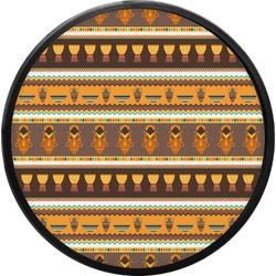 African Masks Round Trailer Hitch Cover