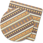 African Masks Rubber Backed Coaster