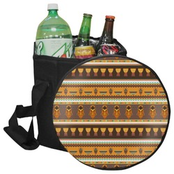 African Masks Collapsible Cooler & Seat