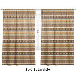 """African Masks Curtains - 40""""x54"""" Panels - Lined (2 Panels Per Set)"""