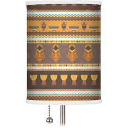 African Masks Drum Lamp Shade