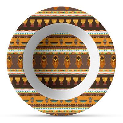 African Masks Plastic Bowl - Microwave Safe - Composite Polymer