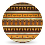 African Masks Microwave Safe Plastic Plate - Composite Polymer